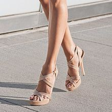 Jimmy Choo strappy sandals.... a little out of my budget though! #jimmychooheelsstrappy #tanpromheels #promheelsneutral
