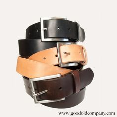 classic American style leather belt from good old company