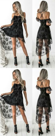 black homecoming dresses,high low homecoming dresses,lace homecoming dresses,homecoming dresses for teens