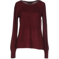 Only Jumper ($33) ❤ liked on Polyvore featuring tops, sweaters, maroon, long sleeve jumper, jumper top, jumpers sweaters, red sweater and maroon sweater