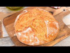 Pan Casero sin Amasar con Corteza Crujiente y Miga Tierna - YouTube Churros, Croissant, Bread, Baguette, Videos, Food, Youtube, Salt Dough, Noodle