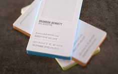Smart design - the debossed speech balloon area is for making personal notes   Meer Studios business card   Printer: Printing Skylab Letterpress - http://skylabletterpress.com #businesscard #thick #edgeprinting