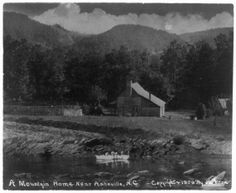 A mountain home near Asheville, with mountain in background around 1909. (Library of Congress Prints and Photographs Division LC-USZ62-51176)