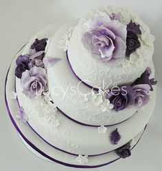 purple and lilac rose wedding cake | visit me and LIKE my fa… | Flickr