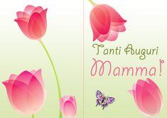 Biglietto di auguri da ripiegare per la festa della mamma pronto da stampare gratis