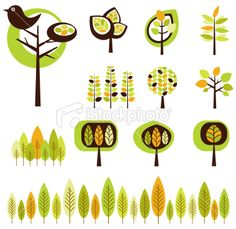 7 - Funky Forest Royalty Free Stock Vector Art Illustration