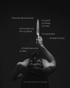 Quotes from the Dark. This page is dedicated to the poetry and prose depicting the human battle with the darkness. Inspiring Things, Facebook Sign Up, The Darkest, Crying, Poetry, Names, Quotes, Art, Quotations