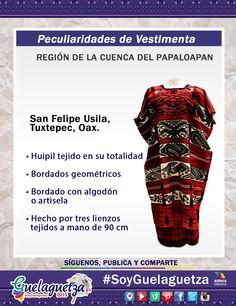 #SoyGuelaguetza de la región de la Cuenca del Papaloapan conoce la vestimenta de la mujer de San Felipe Usila Tuxtepec