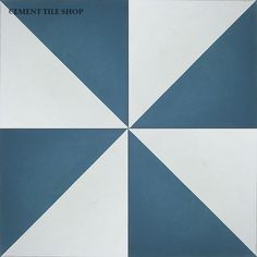 Cement Tile Shop - Encaustic Cement Tile Diagonal IV - Pinwheel - different  colour, but