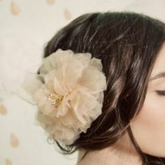 Buy beautiful handmade chiffon hair flowers from Etsy or use this DIY tutorial to create your own. Would you Buy or DIY?