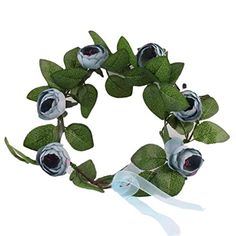 DZT1968 Baby Kids And Monther Rose Flower Headband Hairband Woven wreath Baby Blue >>> Continue to the product at the image link.(This is an Amazon affiliate link)