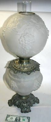 Vintage Gone With The Wind Oil Lamp Consolidated C 1895 Br G Gl Globe