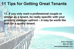 11 tips To Getting Great Tenants