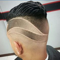 Our cut of the day is from Boys Haircuts With Designs, Haircuts For Men, Men's Haircuts, Undercut Fade Hairstyle, Fade Haircut, Hair Styles 2016, Curly Hair Styles, Natural Hair Styles, Shaved Hair Designs