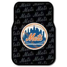 New York Mets MLB Car Front Floor Mats 2 17x25