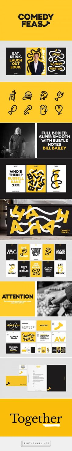 Comedy Feast / FormFiftyFive… – a grouped images picture – Pin Them All – corporate branding identity Corporate Design, Corporate Branding, Brand Identity Design, Graphic Design Branding, Logo Branding, Typography Design, Logo Design, Brochure Design, Motion Design