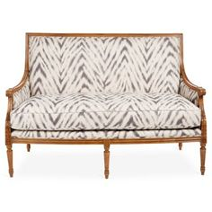 """Check out this item at One Kings Lane! Oakridge 56"""" Linen Settee, Brown"""