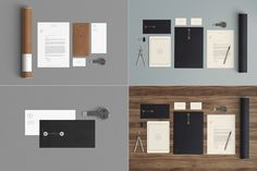 Stationery Mock Up - Kraft paper by Qeaql on Creative Market