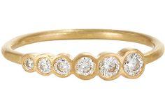 Sophie Bille Brahe Diamond & Gold Pleine De Lune Midi Ring, $2300, available at Barneys New York.
