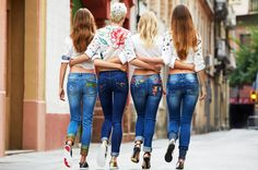 Desigual's Exotic Jeans come in every shape and size! Ankle skimmers, elastic cut, boyfriend cut or super skinny. Whatever you choose, they all look great with sandals, sneakers and boots alike!