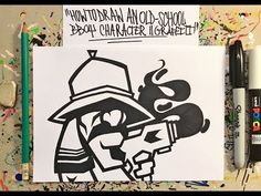Graffiti Pens, Graffiti Doodles, Stencil Graffiti, Best Graffiti, Graffiti Designs, Graffiti Drawing, Graffiti Alphabet, Arte Hip Hop, Hip Hop Art