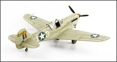 P-40K scale model airplane by Brewer Models. Hasegawa 1:48 scale. Pinned by #relicmodels