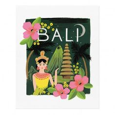 Rifle Paper Co Rifle Paper Bali Poster - 28x35 cm `One size Artist : Anna Bond * To stand * Fabrics : Recycled Paper * 28 x 35 cm. * Details : Printed on paper from durably managed forests (FSC) * Made in : USA http://www.MightGet.com/january-2017-13/rifle-paper-co-rifle-paper-bali-poster--28x35-cm-one-size.asp