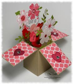 Card in a Box Valentine by serenestamper - Cards and Paper Crafts at Splitcoaststampers