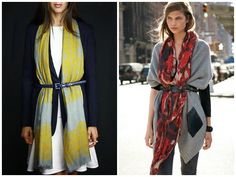 New Way to Wear a Scarf for Fall | STYLE'N