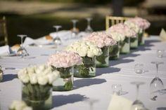 simple rose table runner
