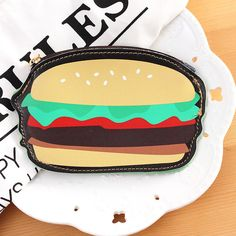 Card Holder & Note Holder 2019 Latest Design Korea Creative Hamburger Cake Coin Purse Portable Packet Bag Cute Cartoon Wacky Key Purse Students Gifts School Office Supplies High Standard In Quality And Hygiene