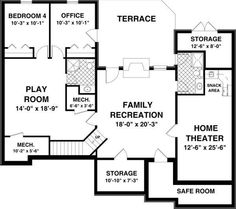 Home and Apartment, Big And Elegant House Floor Plan With The Great Smart Awesome And Interesting Design Ideas That Looks So Elegant Amazing Fascinating And Comfortable With Some Rooms Like Bedroom Play Room Home Theater And Storage Terrace ~ The Neat And Great Small House Layout With The Awesome And Beautiful Design Ideas