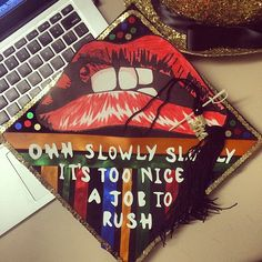 The sword of Damocles is hanging over my head, and I've got a feeling someone's gonna be cutting the thread. #graduation #gradcap #rockyhorror #rhps #sunypurchase #purchasecollege #Padgram