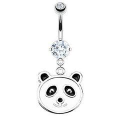 Navlepiercing med pandabjørn 47 kr