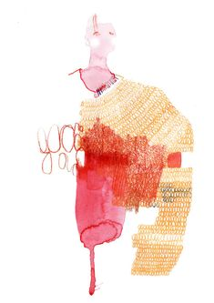 Fashion Illustration Design Want excellent helpful hints concerning arts and crafts? Head out to our great website! - The most amazing place for women's fashion. Textiles Sketchbook, Fashion Sketchbook, Fashion Sketches, Fashion Collage, Fashion Art, Knit Fashion, Illustration Sketches, Illustration Fashion, Fashion Illustrations