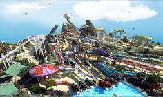 Increible parque acuatico!! Yas Waterworld, Abu Dhabi