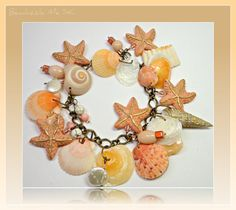 Starfish & Florida Shell Freshwater Pearl Bracelet by BeadazzleMe, $30.00