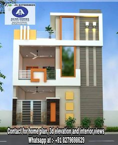 Two Bedroom House Plans for small Family, Residential Home Designs, Floor, Living Room 2bhk House Plan, Model House Plan, Duplex House Plans, Small House Plans, House Outside Design, House Front Design, Small House Design, 3 Storey House Design, Bungalow House Design