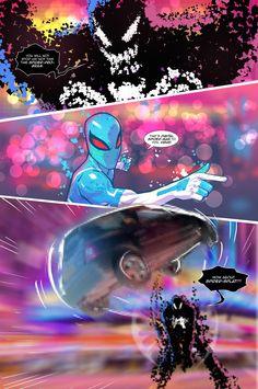 Spider Verse Digital Spider-man fan comic page 4 by Joey Vazquez
