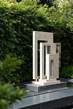 Outdoor Sculpture, Modern Sculpture, Outdoor Art, Abstract Sculpture, Garden Sculpture, Modern Water Feature, Yard Sculptures, Landscape Architecture Design, Backyard Garden Design