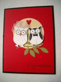 Wedding owls via splitcoast stampers