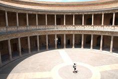 Wnętrze pałacu Karola V, Granada, Hiszpania