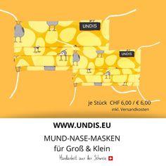 Bei UNDIS www.undis.eu gibt es jetzt auch MUND-NASEN-MASKEN im Partnerlook für Erwachsene und Kinder. Je Stück CHF 6,00 / € 6,00 (Versandkosten sind im Preis inkludiert) #undis #maskeauf #behelfsmaske #mundnasenmaske #mundmaske #gesichtsmaske #nähen #kreativ #bunt #maske #corona #virus #maske #mundnasenschutz #deutschland #schweiz #österreich #maske #kinder #eltern #diy #partnerlook #bunt #gesundheit #mundnasemaske Bunt, Corona, Kids, Great Gifts, Switzerland, Parents, Masks, Germany, Health
