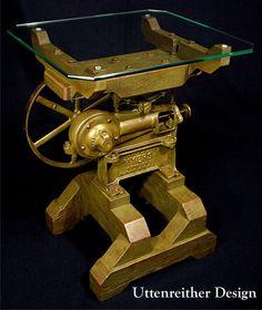 Vintage Industrial Artifact Side Table by UttenreitherDesign