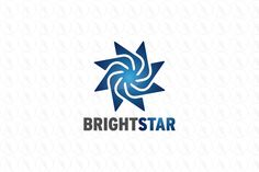 Bright Star - $199 (negotiable) http://www.stronglogos.com/product/bright-star-1 #logo #design #sale #star #blue #abstract #consultancy #psychological #counseling