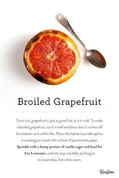 Broiled Grapefruit via @PureWow