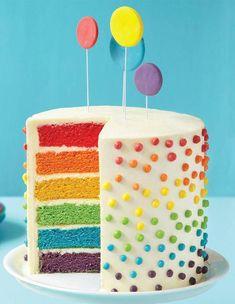Rainbow cake : 17 rainbow cake bluffants - Elle à Table