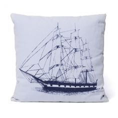 Ortolan Ship Pillow PL025NV