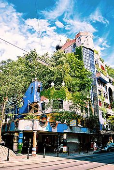 The Hundertwasserhaus is an apartment house in Vienna, Austria, built after the idea and concept of Austrian artist Friedensreich Hundertwasser with architect Joseph Krawina as a co-author. This expressionist landmark of Vienna is located in the Landstraße district on the corner of Kegelgasse and Löwengasse.