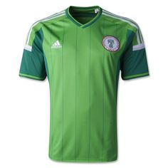 According to adidas: This season's home kit departs from the traditional racing green to an exciting and striking lighter variant, reflecting a fresh, young and vibrant Super Eagles team that carries the hopes of a proud Nigerian nation.